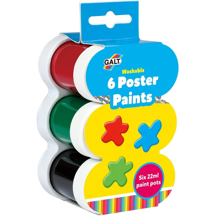 Galt Pack of 6 x 22ml Poster Paints