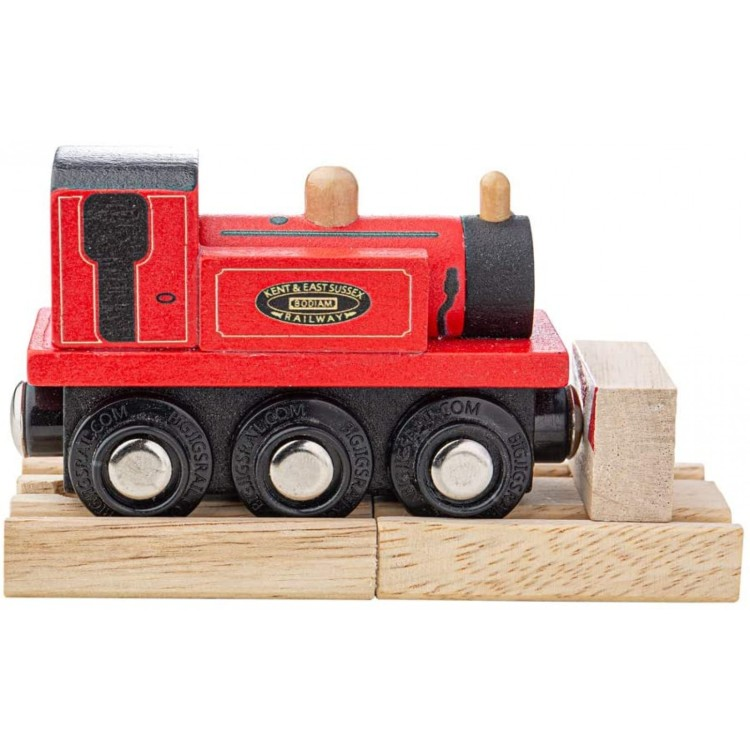 Bigjigs Terrier Loco Wooden Train - Red