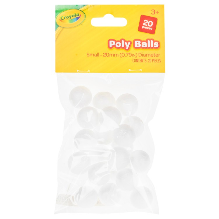 Crayola Pack of 20mm Poly Balls 20 Pieces