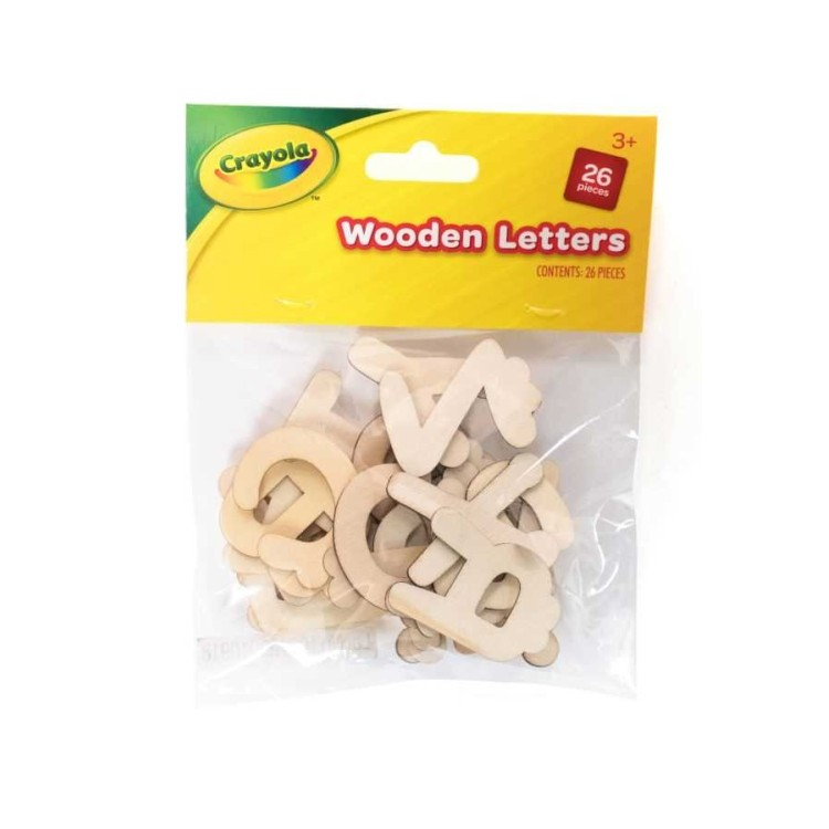Crayola Pack of Wooden Letters 26 Pieces