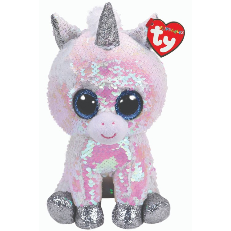 TY Flippables Diamond the White Unicorn Medium Size