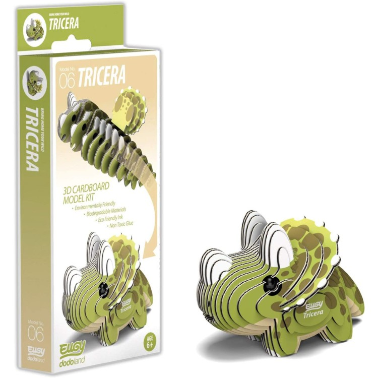 Eugy Card Model Kit - Tricera
