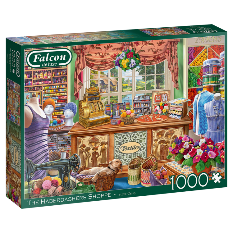 Falcon The Haberdashers Shoppe 1000 Piece Jigsaw Puzzle