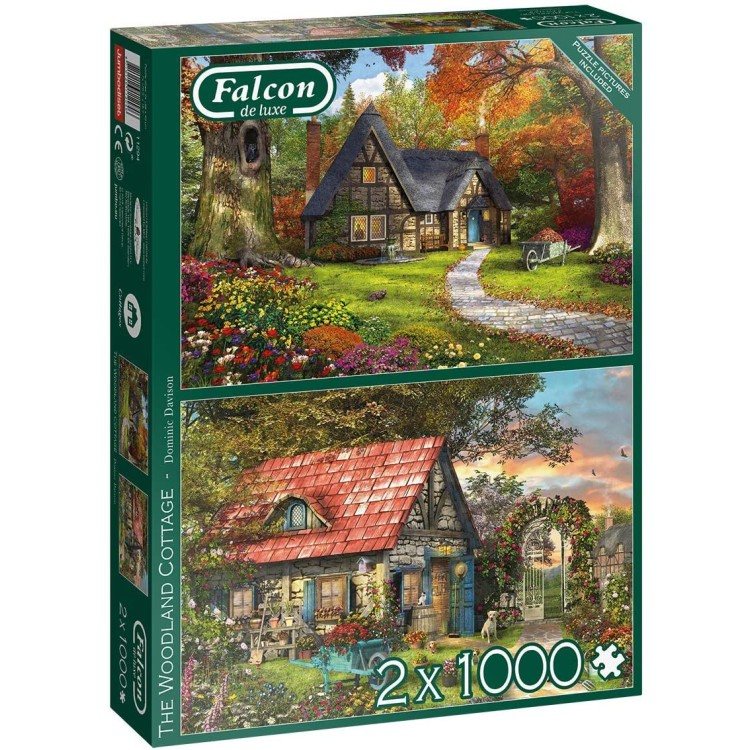 Falcon Woodland Cottage 2 x 1000 Piece Jigsaw Puzzles
