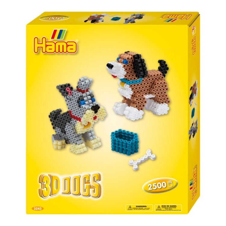 Hama Beads 3D Dogs Set