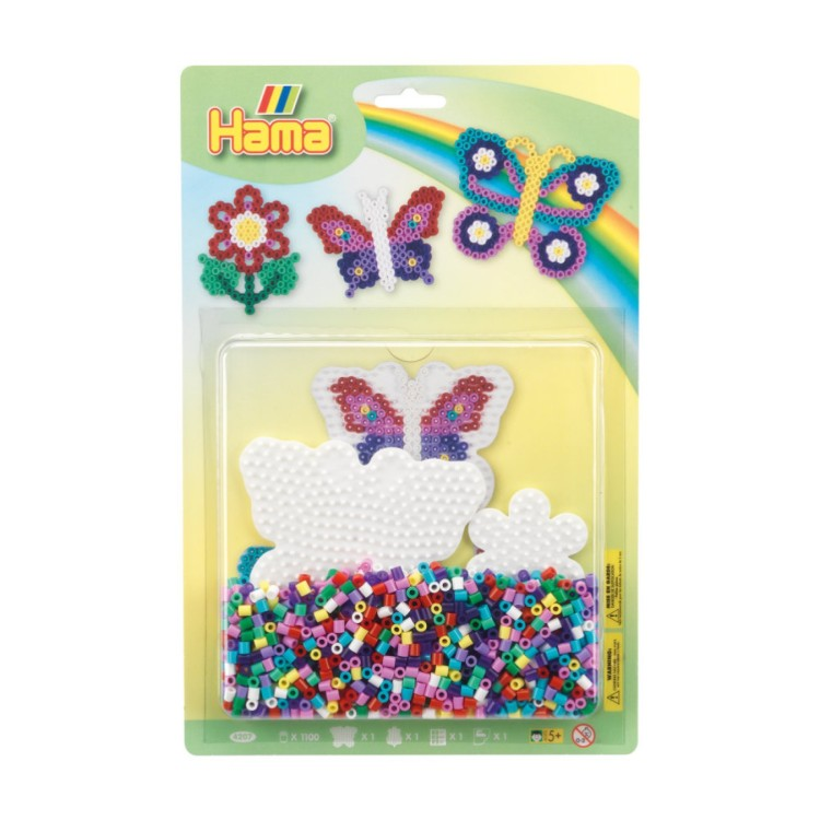 Hama Beads Butterflies Large Blister Pack