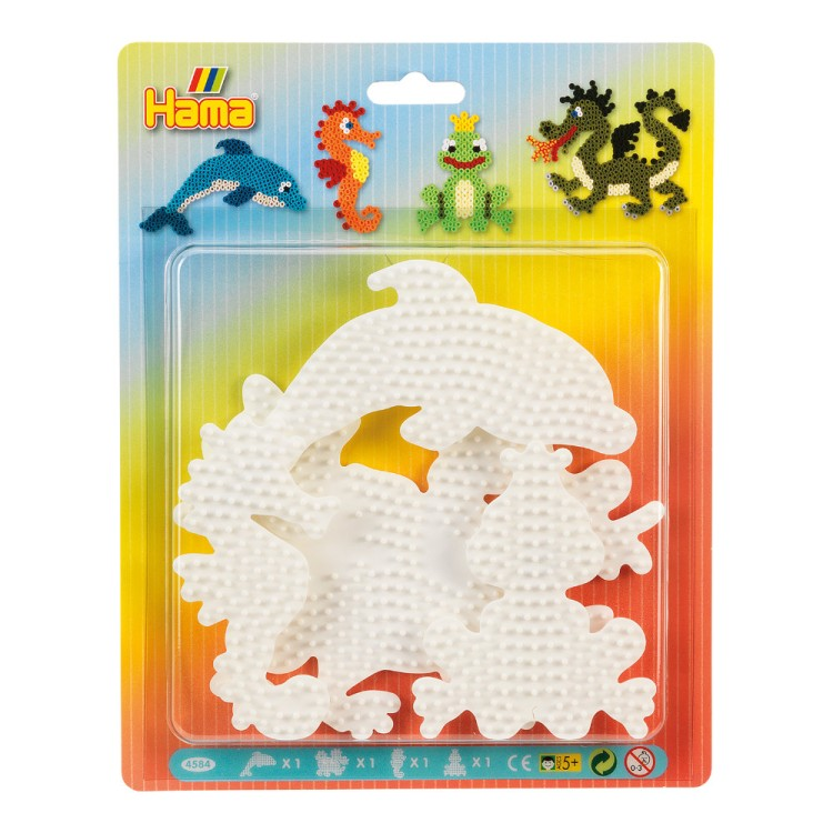 Hama Beads Mixed Creatures Pegboard Blister Pack