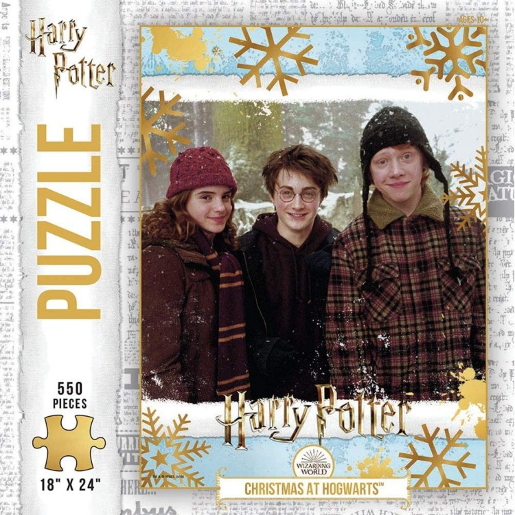 Harry Potter Christmas at Hogwarts 550 Piece Jigsaw Puzzle