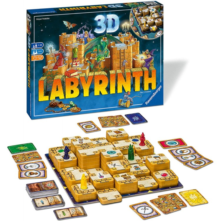 3D Labyrinth Board Game