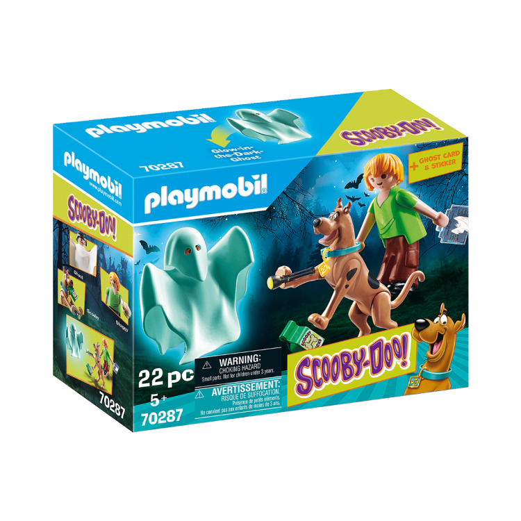 Playmobil 70287 Scooby Doo Scooby and Shaggy with Ghost Set