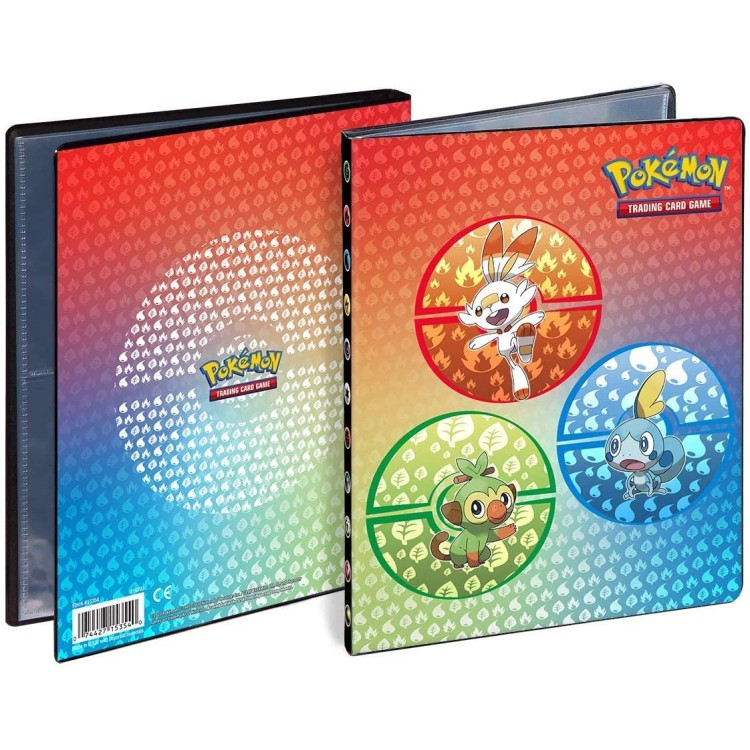 Pokemon TCG 4 Pocket Portfolio - Sword & Shield Design