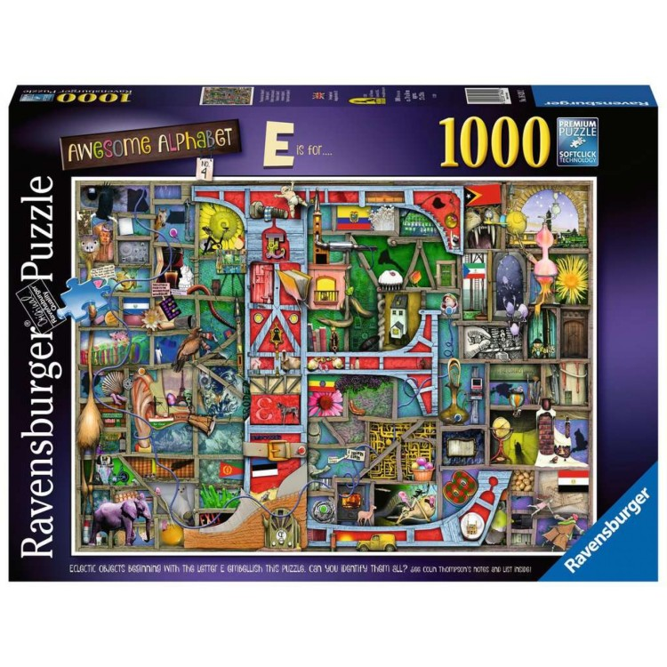 Ravensburger Awesome Alphabet E is For 1000 Piece Jigsaw Puzzle