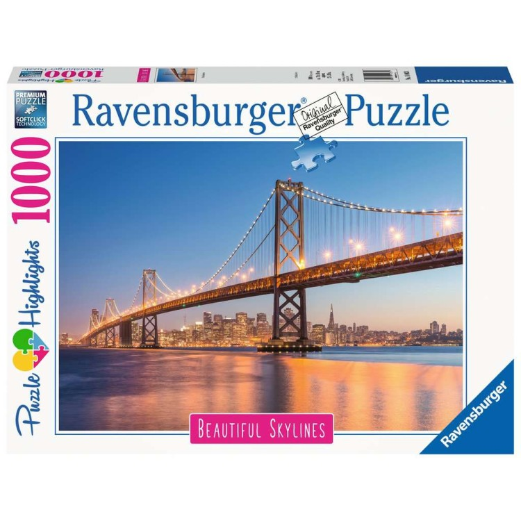 Ravensburger Beautiful Skyline San Francisco 1000 Piece Jigsaw Puzzle
