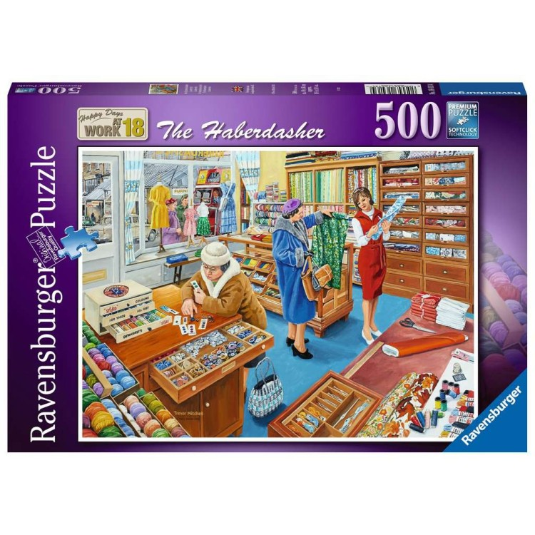 Ravensburger Happy Days at Work The Haberdasher 500 Piece Jigsaw Puzzle