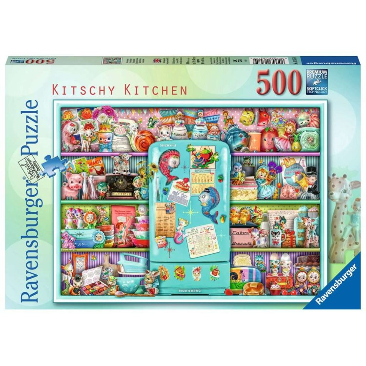 Ravensburger Kitschy Kitchen 500 Piece Jigsaw Puzzle