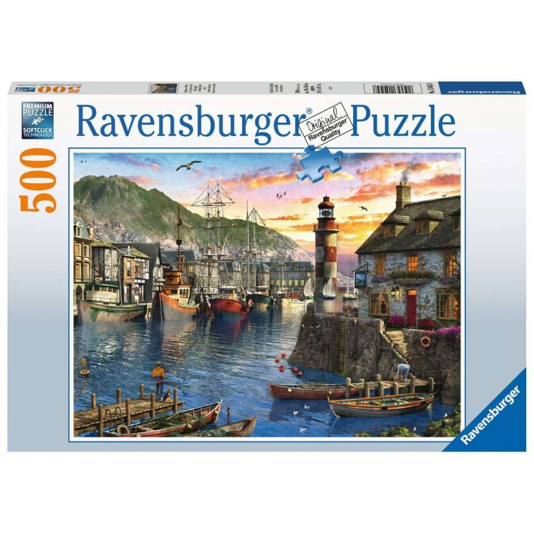 Ravensburger Sunrise at the Port 500 Piece Jigsaw Puzzle