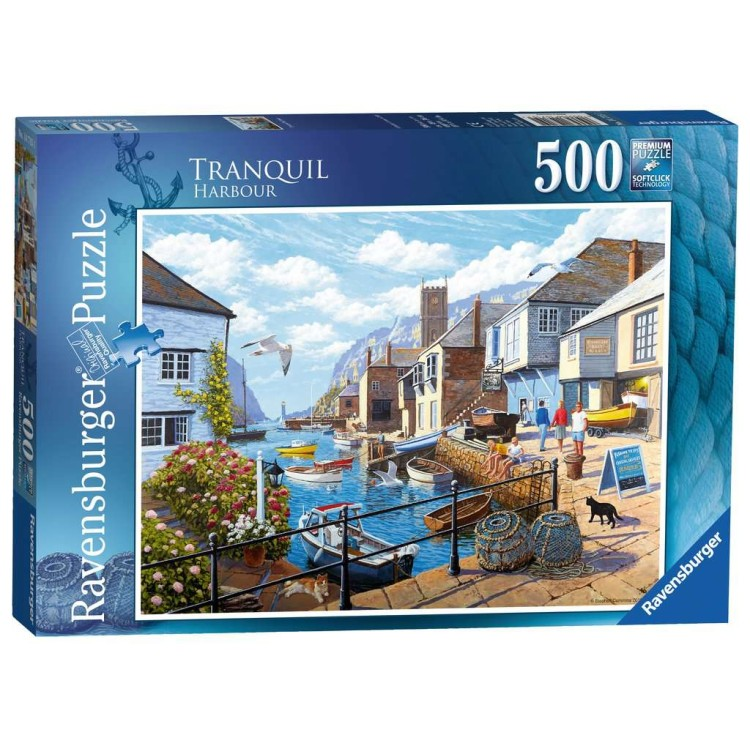 Ravensburger Tranquil Harbour 500 Piece Jigsaw Puzzle