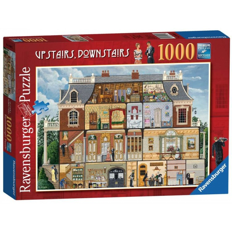 Ravensburger Upstairs, Downstairs 1000 Piece Jigsaw Puzzle