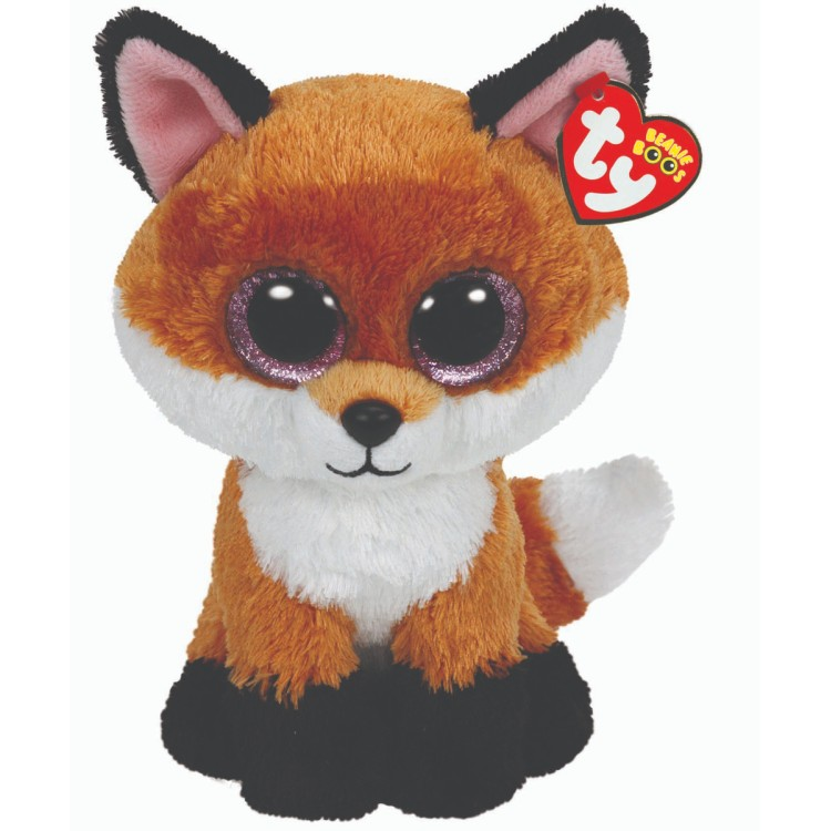 TY Slick the Fox Beanie Boo Medium Size