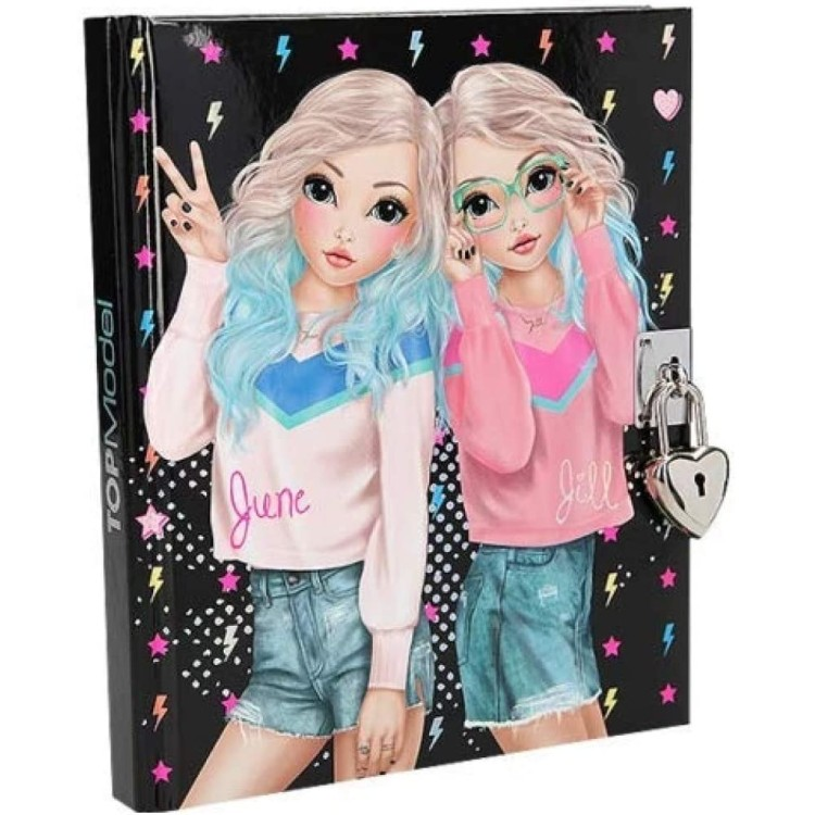 Top Model Lockable Diary with Padlock - June and Jill