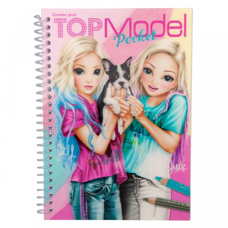 Top Model Pocket Colouring Book with Jill and June Cover
