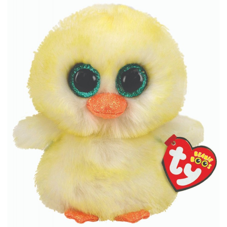 TY Lemon Drop the Chick Beanie Boo Regular Size