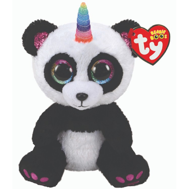 TY Paris the Panda with Horn Beanie Boo Regular Size
