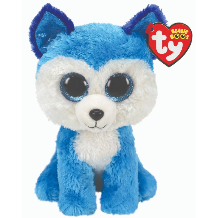 TY Prince the Blue Dog Beanie Boo Regular Size