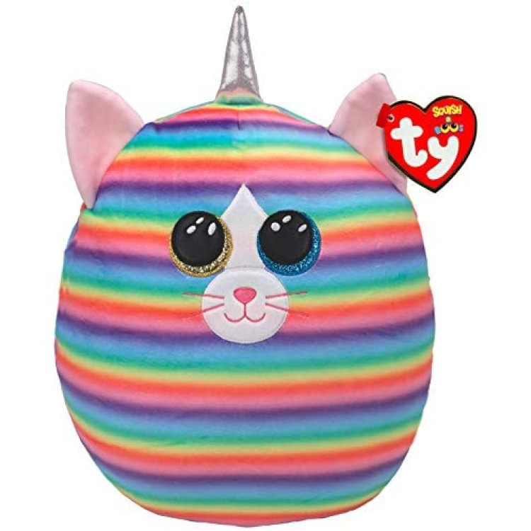TY Squish a Boos Heather the Rainbow Cat