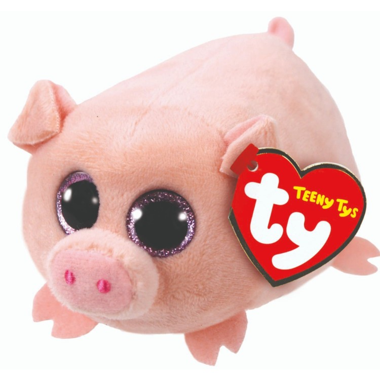 TY Teeny Ty Curly the Pig Plush