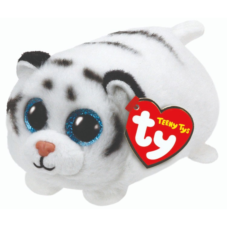 TY Teeny Ty Zack the White Tiger Plush